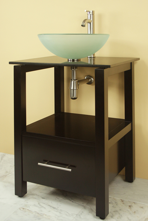 Sale4youaplus NEW 24 WOODEN BATHROOM VANITY WITH BLACK GRANITE TOP