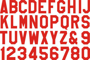 heat pressflock transferiron letters numbers