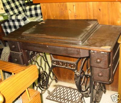 Ervirtualassistants Antique Sewing Machine Amp Table