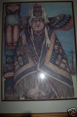 Fiesta Ware Doug Lindstrand Alaskan Art Tlingit Chief
