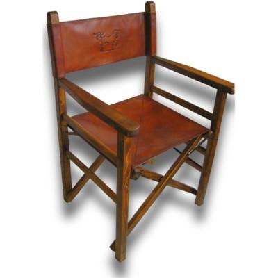 Beau Italian High Quality Leather Director Chair   Regista