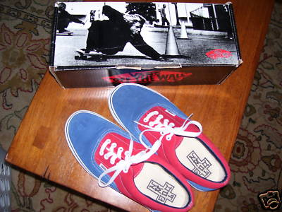 Z-Boys ERA Navy/Red SUEDE SHOES 10.5