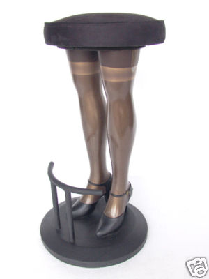 Unique 09 3 Black Stockings Lady Legs Bar Stool