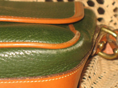 Green Leather handbag in Windsor