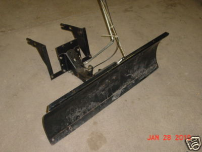 """Used Snow Plows >> OutdoorPoweredTnT : USED SEARS LAWN TRACTOR 42"""" SNOW PLOW . # 486.24443"""