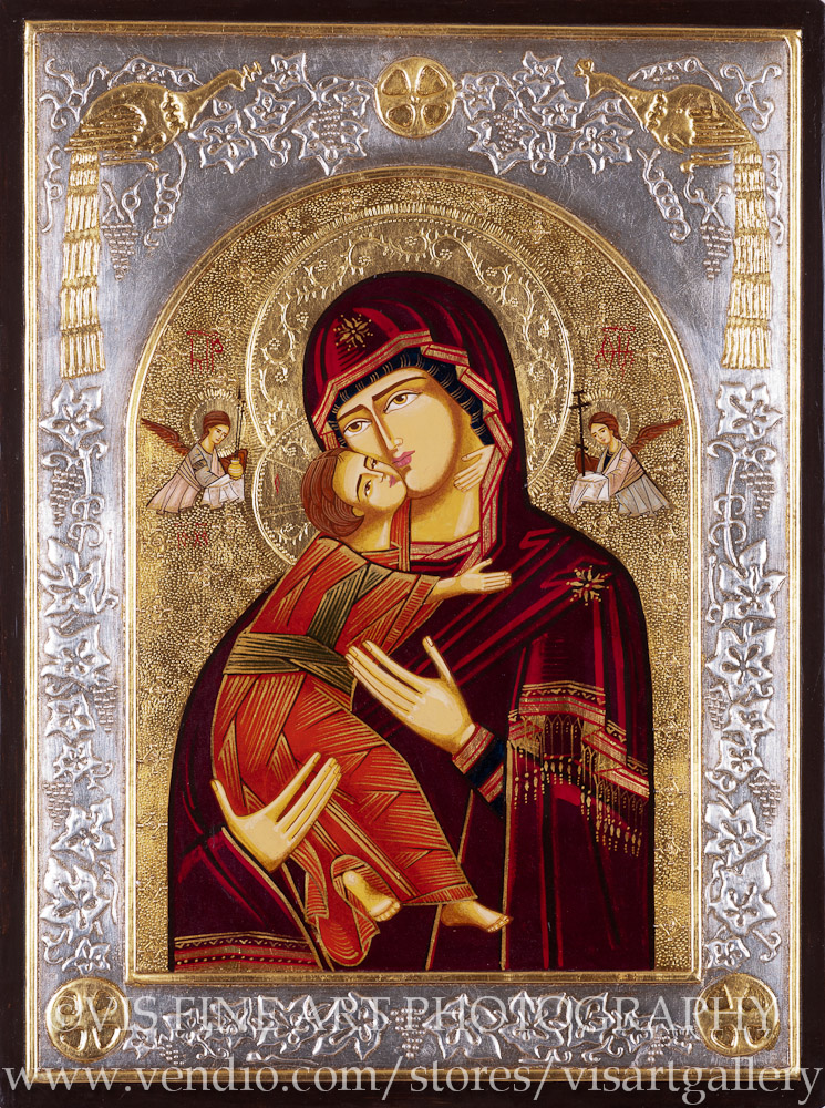 the byzantine style of art developed in