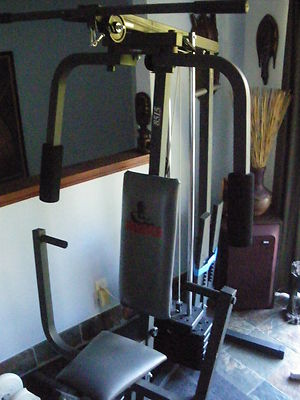 weider 8515 home gym 250 lb variable weight stack  stair