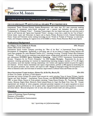 example of creative resume writing services