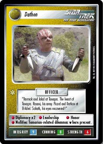 Dathon Alternate Universe Star Trek CCG
