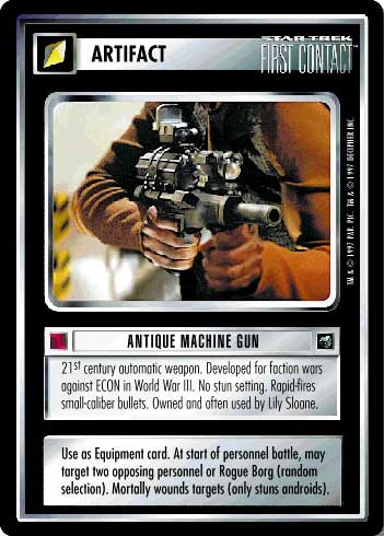 Antique Machine Gun First Contact Star Trek CCG