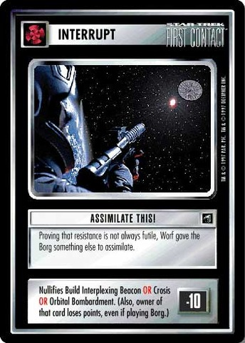Assimilate This! First Contact Star Trek CCG