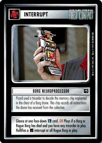 Borg Neuroprocessor First Contact Star Trek CCG