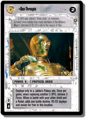 See-Threepio Enhanced Jabba's Palace Decipher Star