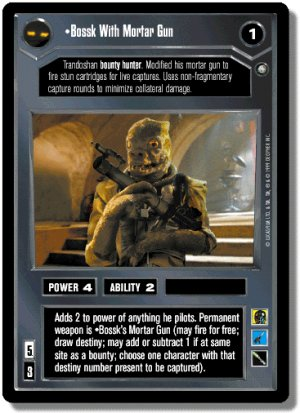 Bossk with Mortar Gun FOIL Reflections II Decipher