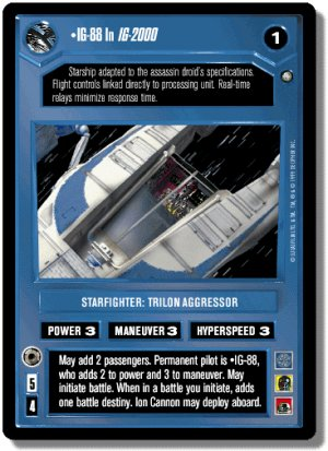 IG-88 In IG-2000 FOIL Reflections II Decipher Star