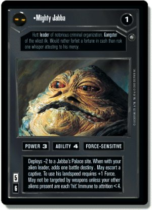 Mighty Jabba Jabba's Palace Sealed Deck Decipher S