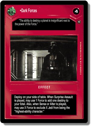 Dark Forces Jedi Pack Decipher Star Wars CCG