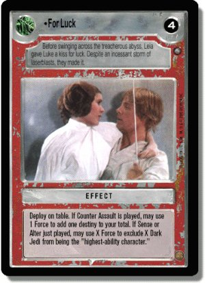 For Luck Jedi Pack Decipher Star Wars CCG