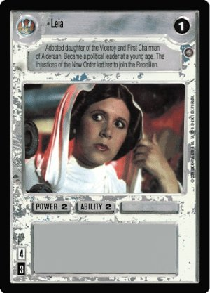 Leia Japanese FOIL Reflections III Decipher Star W