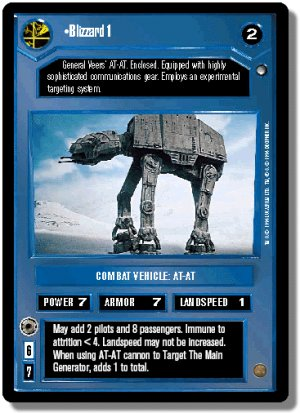 Blizzard 1 FOIL Reflections I Decipher Star Wars C