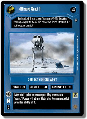 Blizzard Scout 1 Hoth Decipher Star Wars CCG