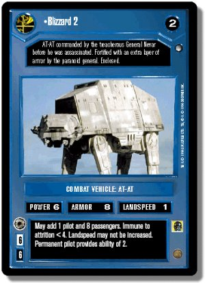 Blizzard 2 FOIL Reflections I Decipher Star Wars C