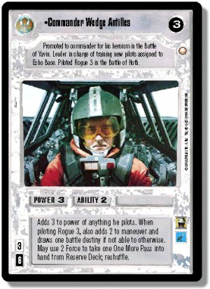 Commander Wedge Antilles (White Bordered Preview C