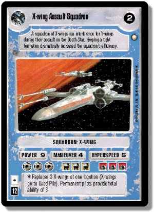 X-wing Assault Squadron White Bordered Preview Car