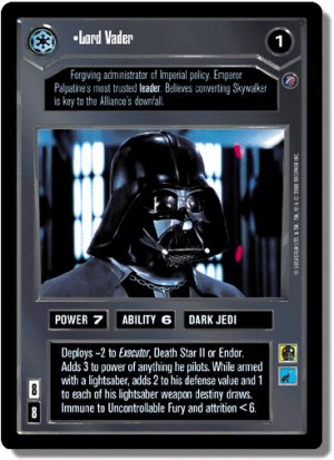 Lord Vader Death Star II Decipher Star Wars CCG