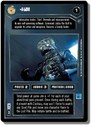 4-LOM FOIL Reflections I Decipher Star Wars CCG