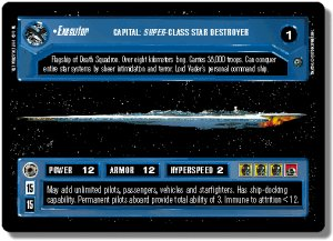 Executor Dagobah Unlimited Decipher Star Wars CCG