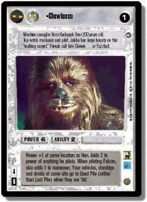 Chewbacca A New Hope Decipher Star Wars CCG