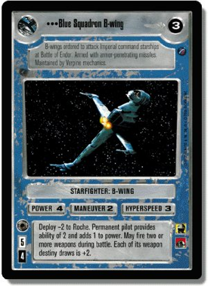 Blue Squadron B-wing FOIL Reflections II Decipher