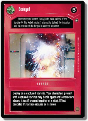 Besieged A New Hope Decipher Star Wars CCG