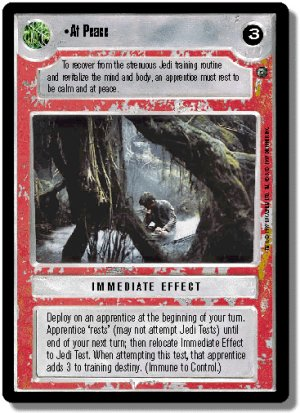 At Peace Dagobah Unlimited Decipher Star Wars CCG