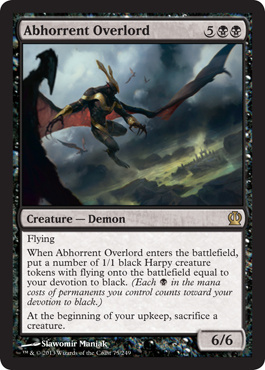 Abhorrent Overlord Theros Magic: The Gathering
