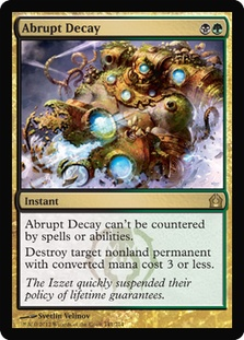 Abrupt Decay Return to Ravnica Magic: The Gatherin
