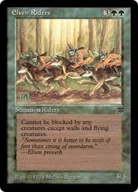 Elven Riders Legends Magic: The Gathering
