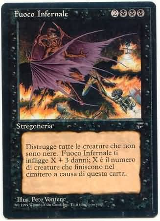 Hellfire (Italian) Legends Magic: The Gathering