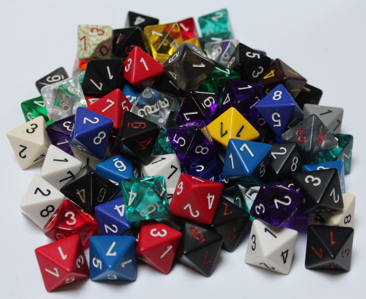 Assorted Eight Sided Dice Lot