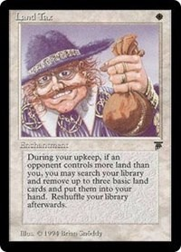 Land Tax (Italian) Legends Magic: The Gathering