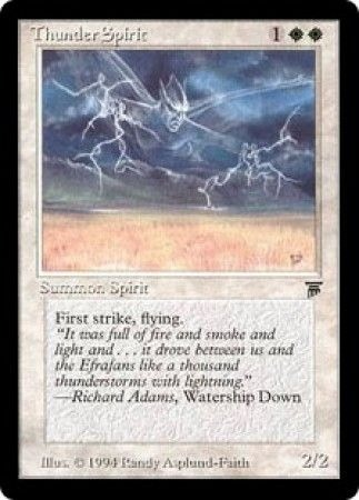 Thunder Spirit Legends Magic: The Gathering
