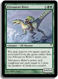 Allosaurus Rider Coldsnap Magic: The Gathering