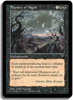 Blanket of Night Visions Magic: The Gathering