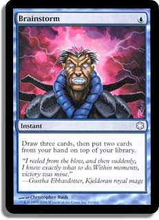 Brainstorm REPRINT Coldsnap Magic: The Gathering