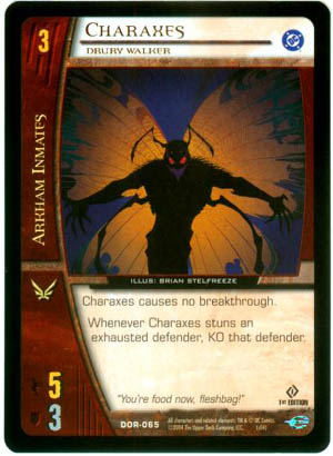 Charaxes DC Origins Vs. System