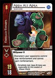 Appa Ali Apsa FOIL Green Lantern Corps. Vs. System