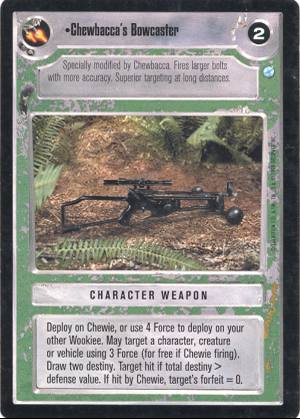 Chewbacca's Bowcaster Endor Decipher Star Wars CCG