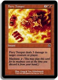 Fiery Temper Torment Magic: The Gathering