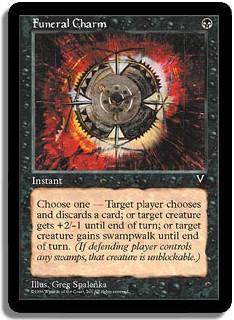 Funeral Charm Visions Magic: The Gathering